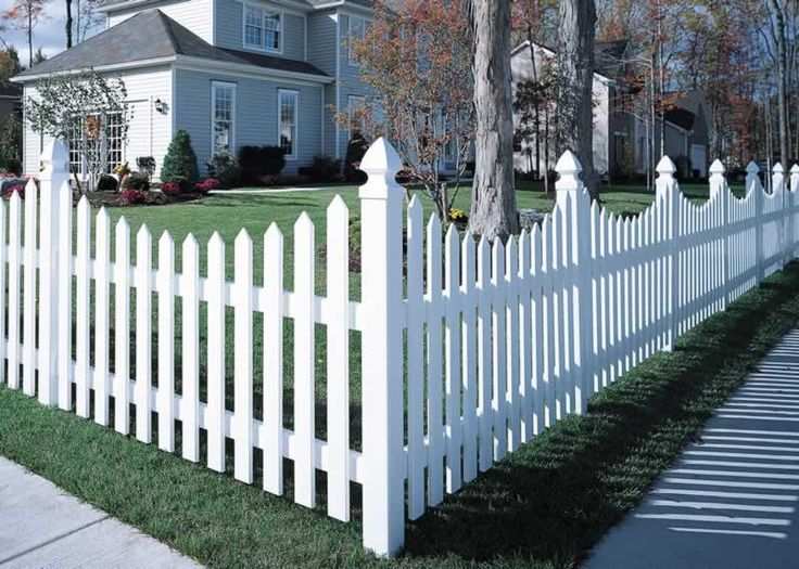 white fencing | Cape Cod Vinyl Picket Fence - Concave