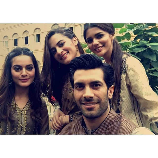 Shoot for eid collection  #advanceeidmubaraklol #shahzadnoor #aimankhan #minalkhan