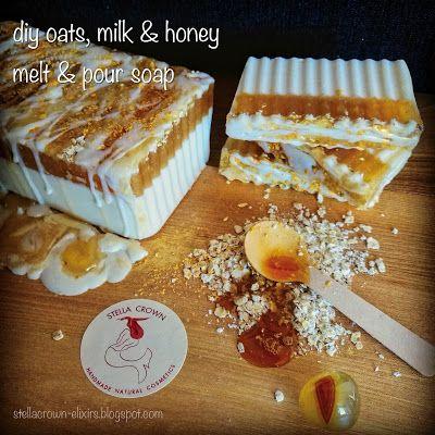 #diy oatmeal, milk & honey melt & pour soap   #diycosmetics #diyideas #diysoap #…