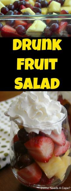 Drunk Fruit Salad | Who Needs A Cape?