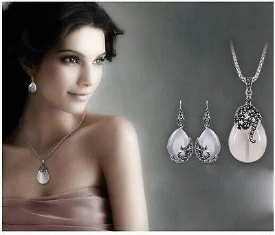 Узнай модные серебро опал капля правах, кулоны и кардиолога ювелирные украшения наборы.