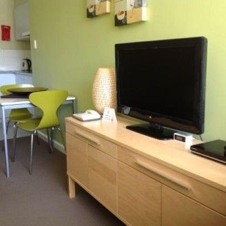 Apartments Tv And Small Kitchen
