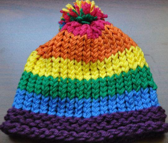 Somewhere Over the Rainbow Rainbows, Loom knitting and Loom knit
