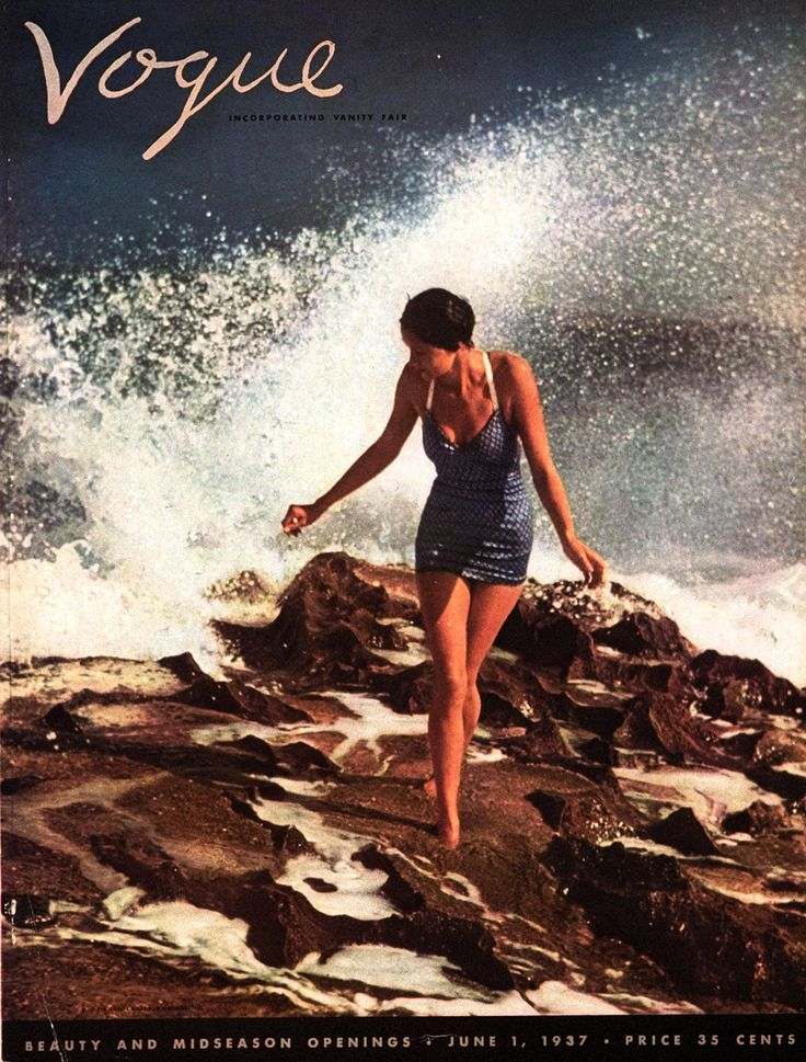 photography by Toni Frissell | Vogue, June 1937Vintage Swimsuits, Frissell Vogue, Vogue 1937, Tony Frissell, Summertime Photographers, June 1937, Magazines Covers, Vogue Covers, Beach Artworks