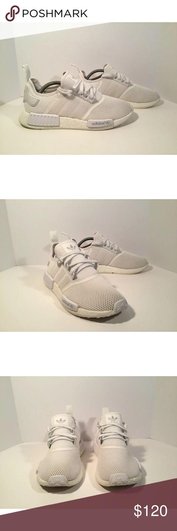 Adidas NMD R1 Triple White Größe 44 2/3 Neuwertig in Sachsen