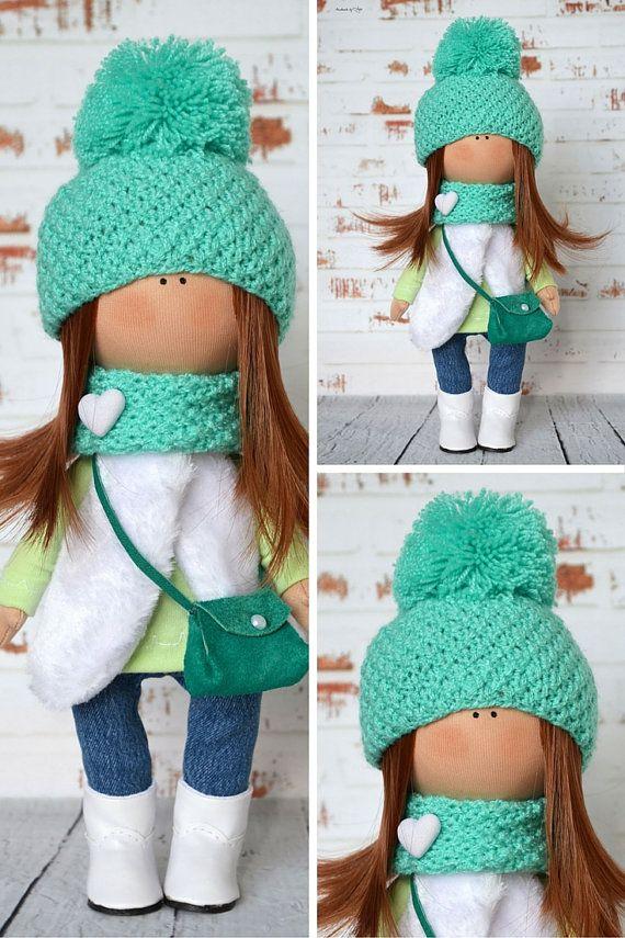 Bambola bambola verde interno bambola Home di AnnKirillartPlace
