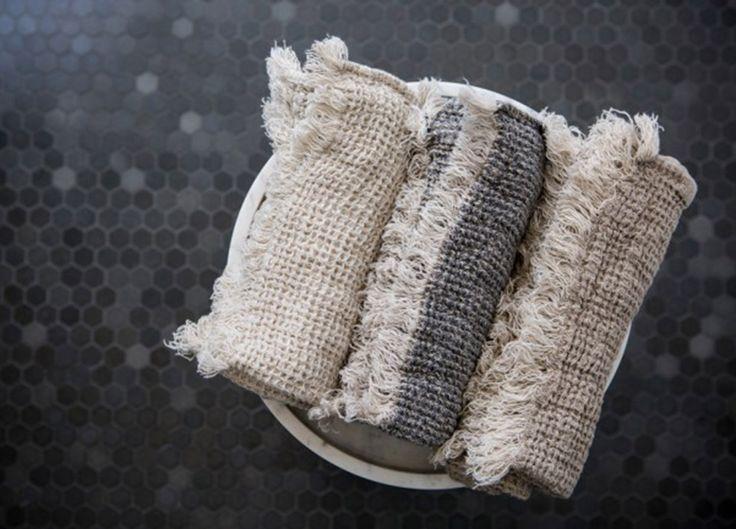 Relaxed and textural — the Flocca Linen Face Cloth @estemag #estdesigndirectory #estliving
