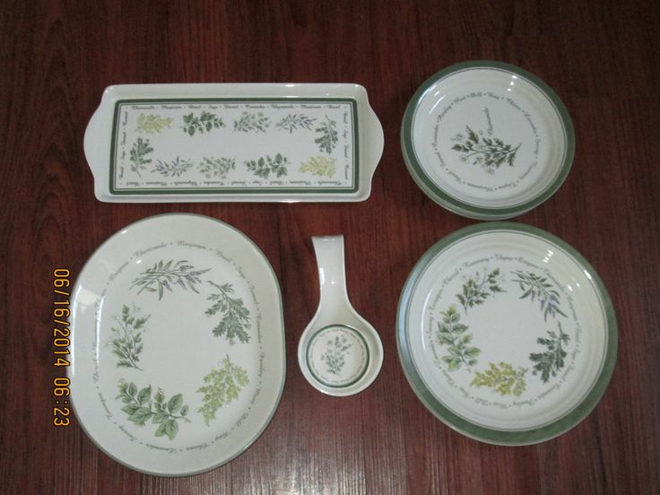 Corelle Thymeless Herbs Dinner/Salad Plates for 6/Oval Platter/Tray/Spoon & 62 best Corelle images on Pinterest | Christmas dishes Pyrex and ...