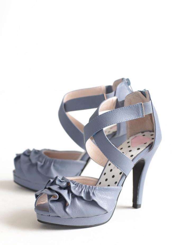 Periwinkle Dreams Ruffle Heels | Shopruche: Style, Periwinkle Shoes, Beautiful, Modern Vintage Shoes, Blue Shoes, Ruffles Heels, Periwinkle Heels, Periwinkle Dreams, Dreams Ruffles