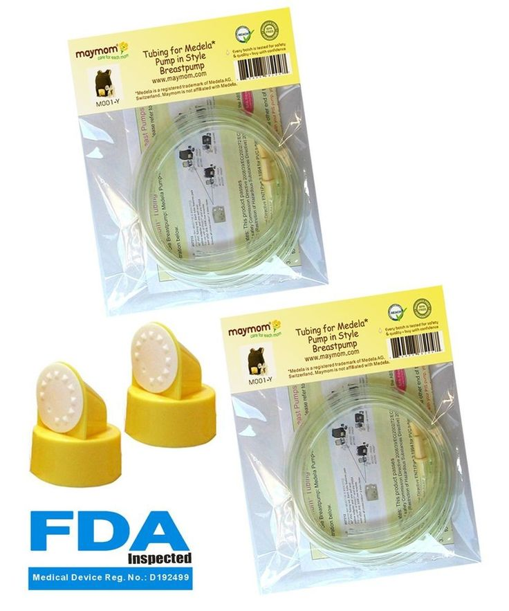 Medela Replacement Tubing Two Packs, 4 Tubes, 2 Valves and 2 Membranes for Pump