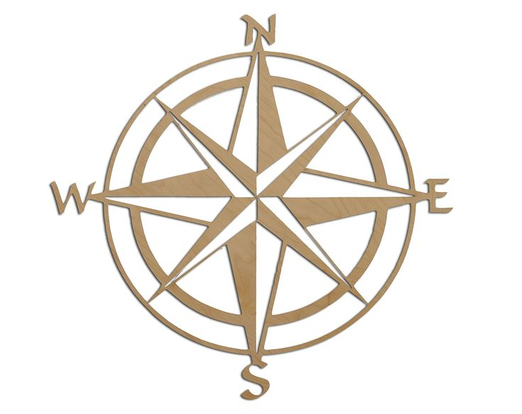 "Nautical Themed Map Compass Rose 24"" - NSEW - North South East West Directional Compass"