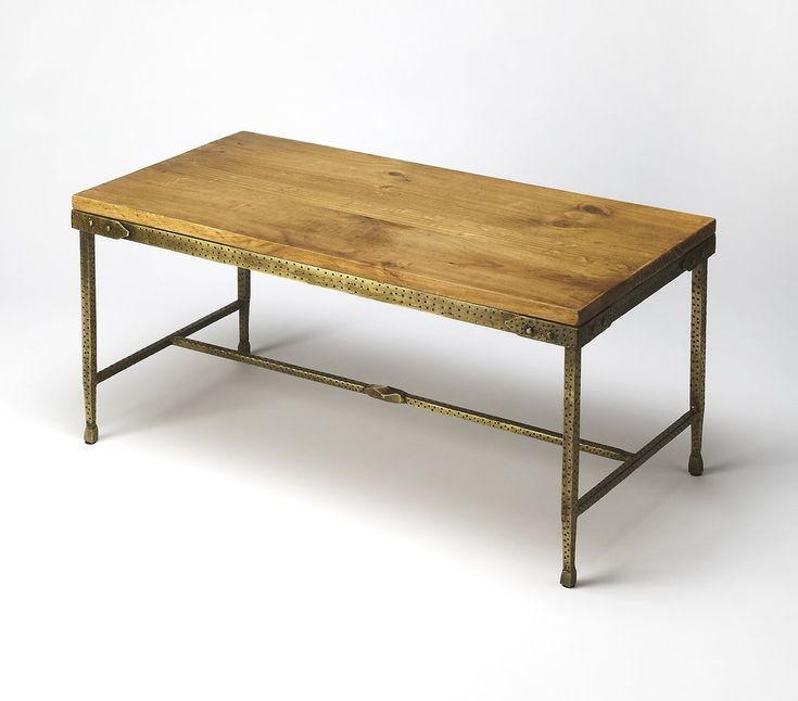 Gratton Iron & Wood Cocktail Table by Butler Specialty Company 2884330 – The Rustic Furniture Store