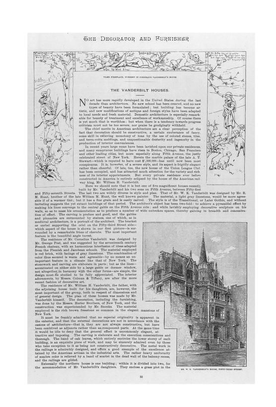 The Decorator and Furnisher (1 May 1888) The Vanderbilt Houses