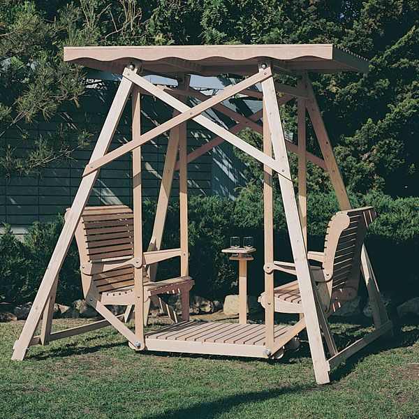 Swings Design: Buy Woodworking Project Paper Plan To Build Canopy Glider