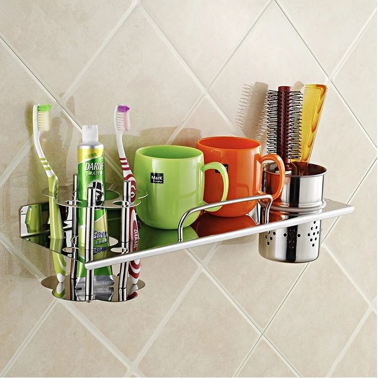32.39$  Watch here - http://alimhv.shopchina.info/go.php?t=32558479921 - Steinless steel 304 Bathroom Toothbrush holder shelf hair dryer rack with cup hair dryer rack Hair Blow Dryer Holder with 32.39$ #buymethat