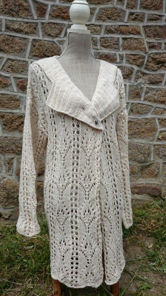 Veste en alpaga création Cathylf crochet et aiguilles laine sierra andina de chez Adriafil