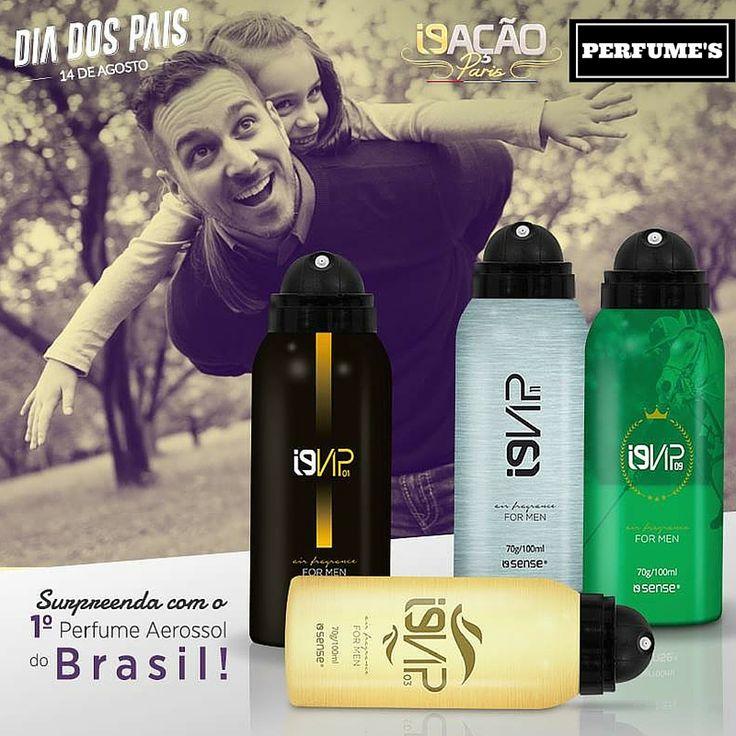 ✨✨ Nesse Dia dos Pais, surpreenda quem você ama com o primeiro Perfume Aerossol do Brasil! Com fragrância importada da França e inspiradas em grandes sucessos internacionais.  Acesse: www.perfumesi9.com.br