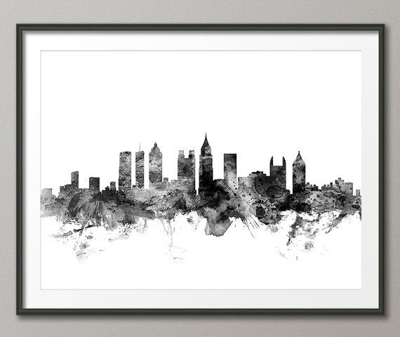 Atlanta Skyline Atlanta Georgia Cityscape Art Print by artPause