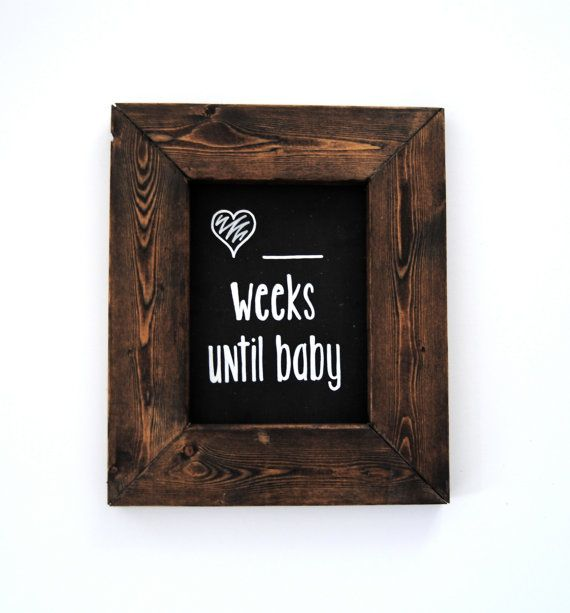 What a great gift idea for a mom-to-be. Pregnancy Countdown Hand Painted Magnetic Chalkboard $28.00