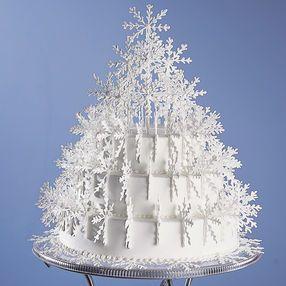 Cintilante do floco de neve da árvore de bolo