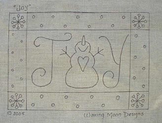 Waxing Moon's Winter & Snowman Themed Rug Hooking Patterns  Okay, I know this is a rug pattern, but this would be a cute card sketch!!!
