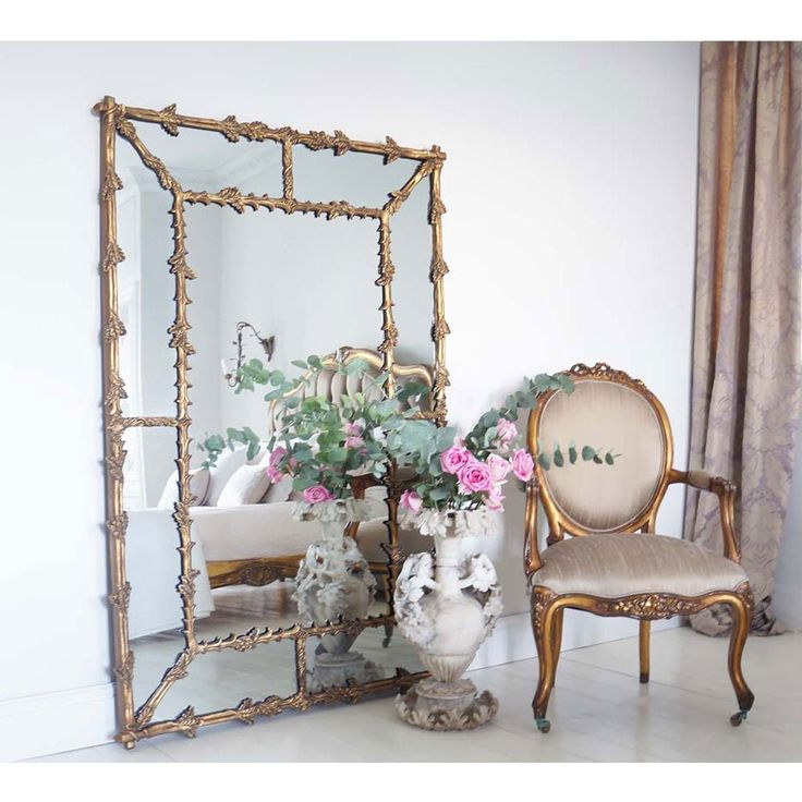 Large Oak Leaf Gold Gilt Mirror - French Bedroom Wall mirror