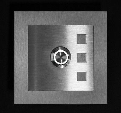 Klingelplatte Klingeltaster Klingel Türklingel Edelstahl LED in | eBay