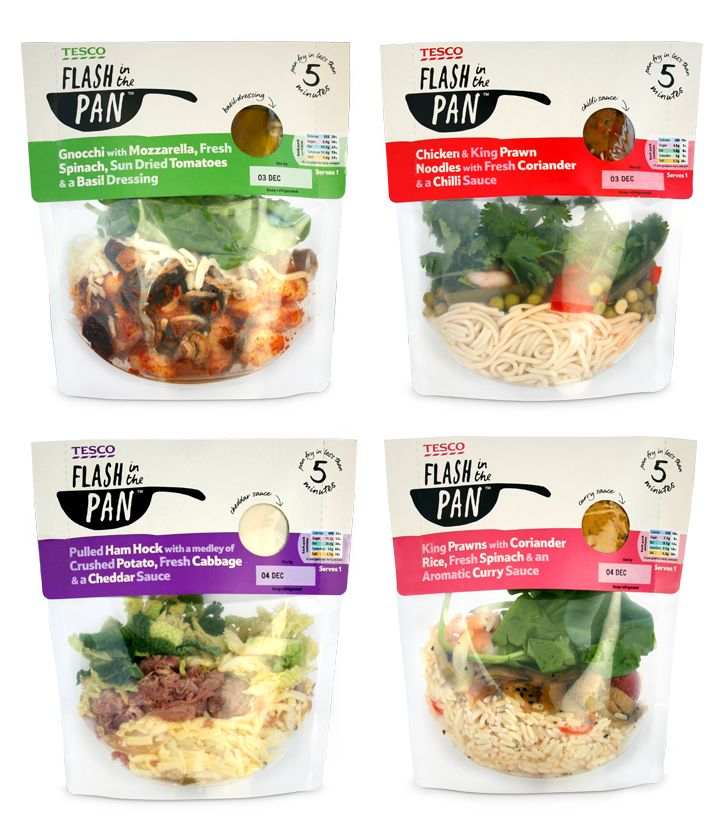 Tesco fresh ready meal to cook in a pan