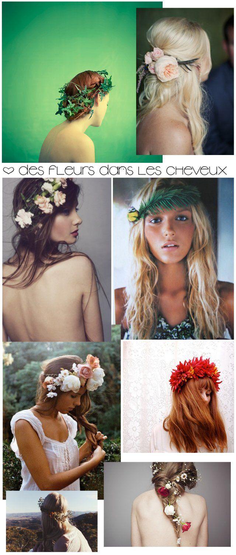 Trendy Wedding, blog idées et inspirations mariage ♥ French Wedding Blog: Coiffure pour la mariée : une chevelure fleurie {Part 1}