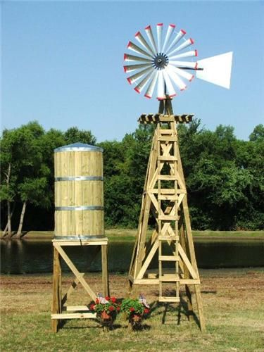 Extra Large Decorative Water Tower Tank With Stand Windmill Water Tower Wooden Windmill