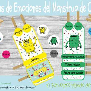 juego monstruo de colores freebie emociones juego emociones para nios aprender con emociones
