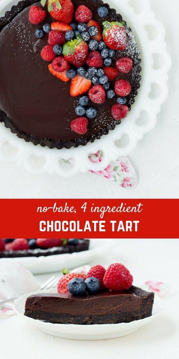 No Bake 4 Ingredients Recipe Chocolate Tarts Recipe