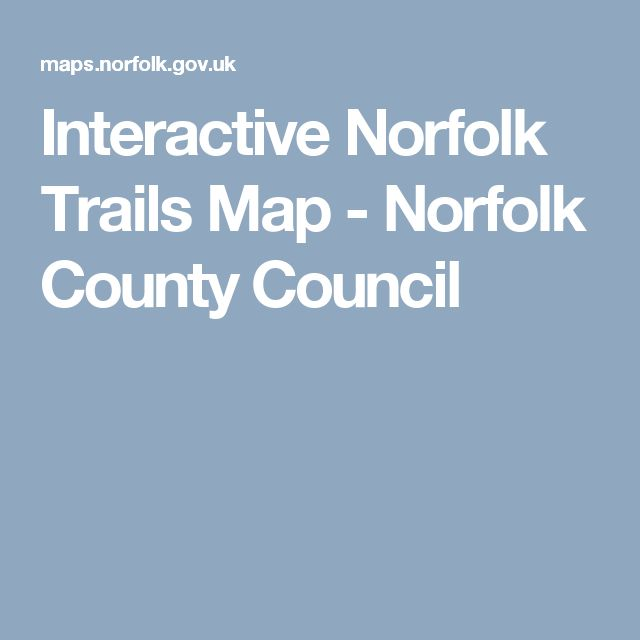 Interactive Norfolk Trails Map - Norfolk County Council