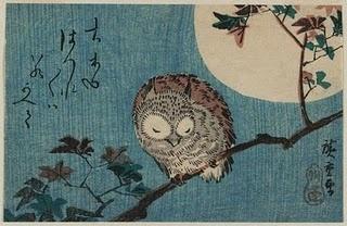 Utagawa Hiroshige - Smalll Horned Owl On A Maple Branch Under A Full Moon, Museumof Fine Arts, Boston.