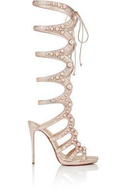63357534ffce CHRISTIAN LOUBOUTIN Amazoutiful Specchio Leather Gladiator Sandals.   christianlouboutin  shoes