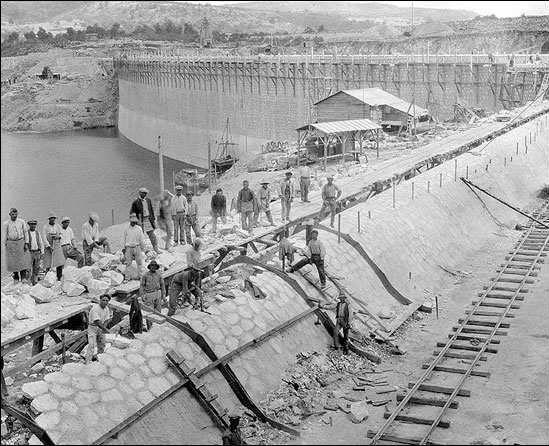 Marathon dam – construction