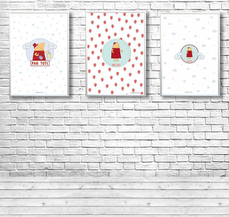 tryptyk - trzy plakaty  http://pl.dawanda.com/product/103961451-trzy-plakaty-pan-toti-mr-toti https://www.facebook.com/kolekcjaPanToti/