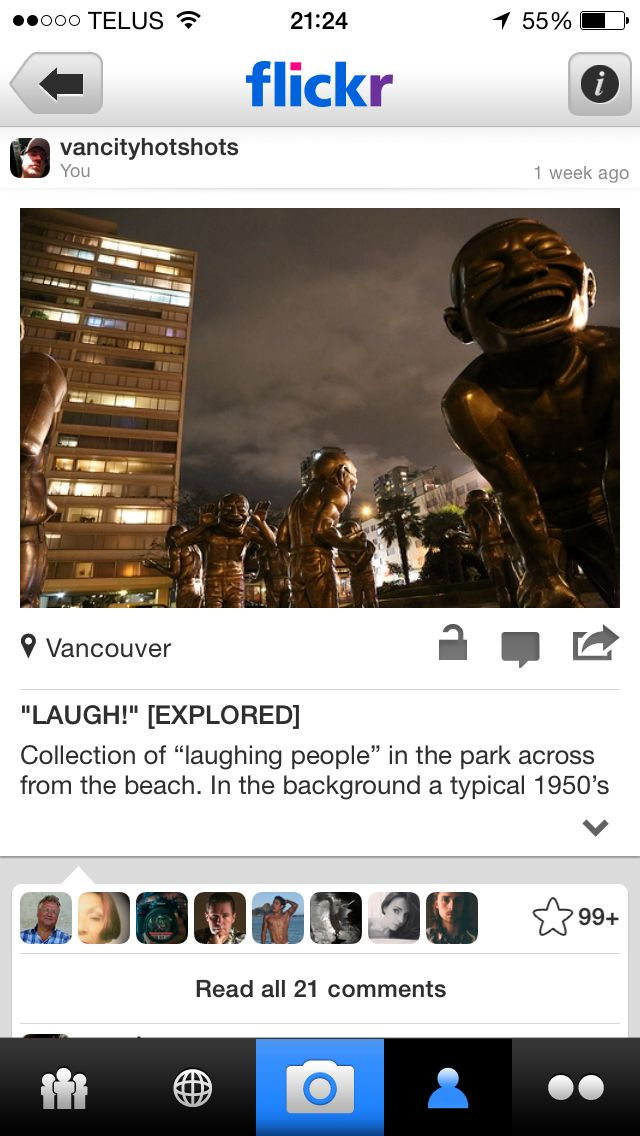 The laughing Peeps at English Bay.  11,000+ views on Flickr! Yay