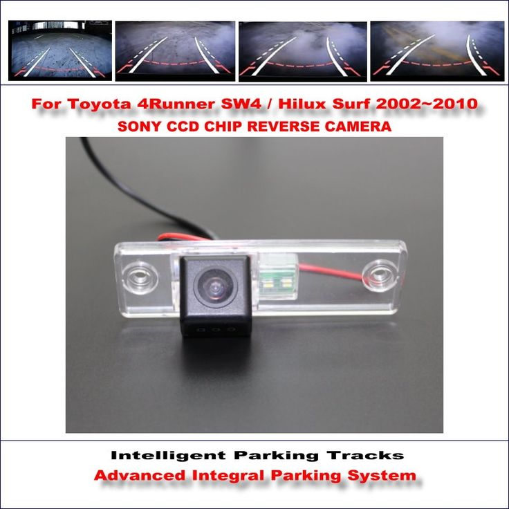 54.63$ Watch here - http://aliv2t.shopchina.info/go.php?t=32793083735 - Intelligent Parking Tracks Rear Camera For Toyota 4Runner SW4 / Hilux Surf 2002~2010 Backup Reverse NTSC RCA AUX HD SONY CCD #shopstyle