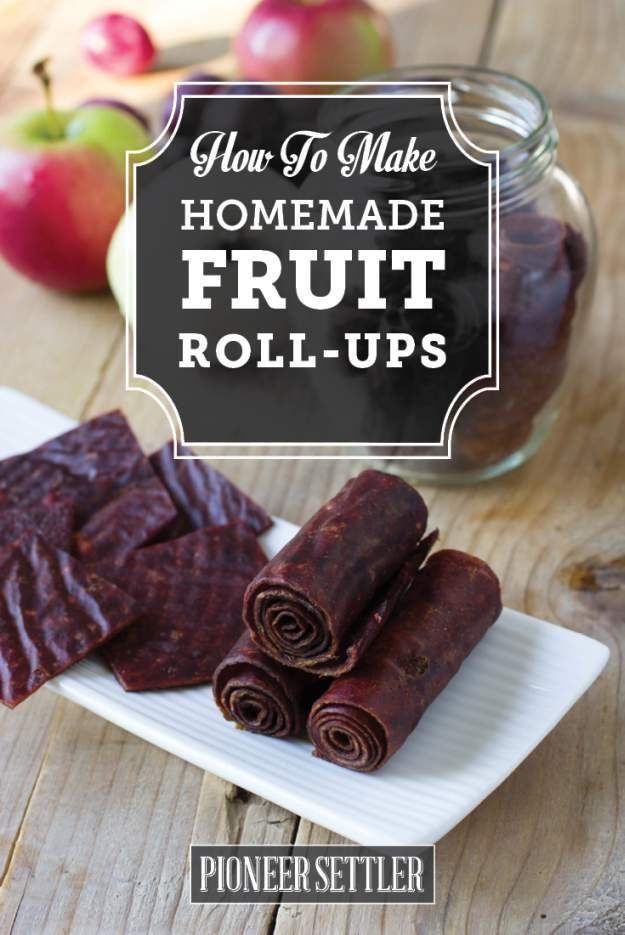Homemade Fruit Roll Ups | DIY Apple Fruit Leather | Easy And Healthy Recipe From Scratch - Food Storage  And Homesteading Ideas by Pioneer Settler at pioneersettler.co...