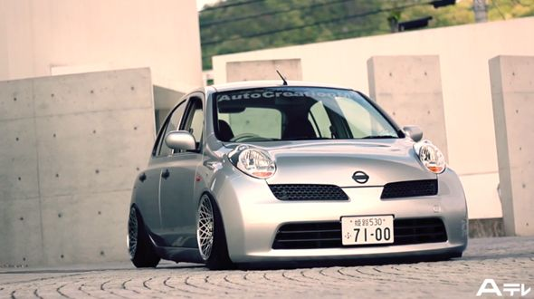 Nissan-Micra-K12-air-ride allegedly Stanced. Polish a turd it is still a turd? lol