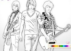JONAS BROTHERS COLORING - CAMP ROCK GAMES