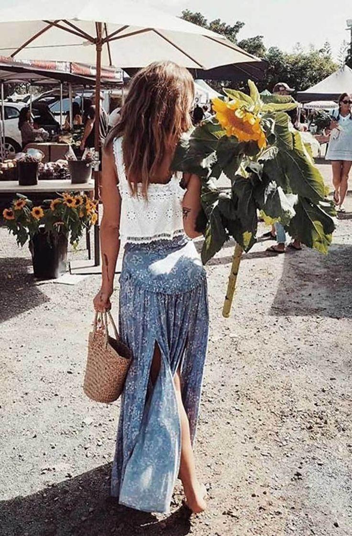 Boho inspirierte Sommerrock – Frauen Sommer Mode