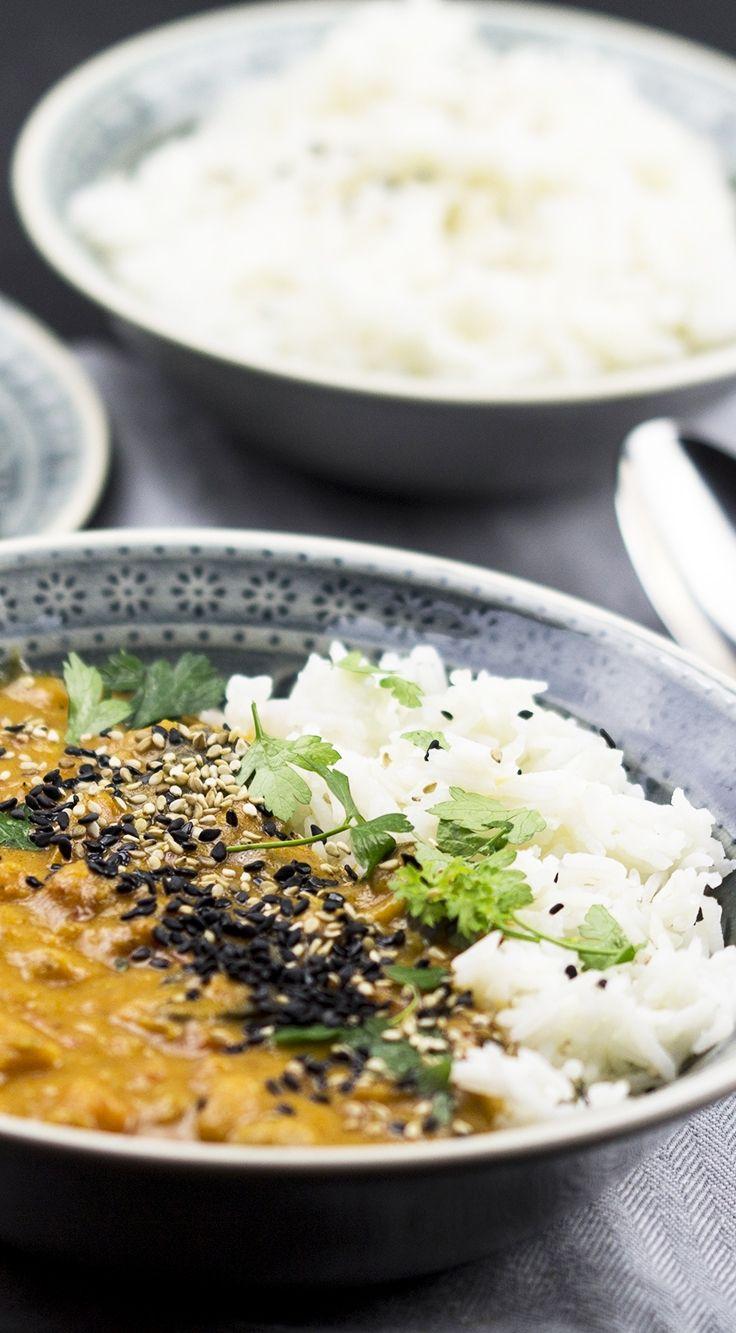 Winter-Curry - mit Süßkartoffeln & Kichererbsen
