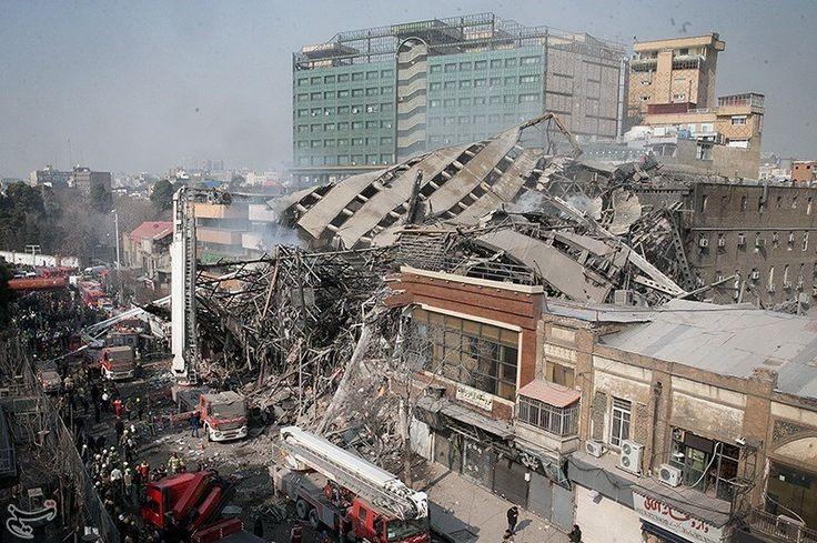 Ein Hochhaus ist in der iranischen Hauptstadt Teheran eingestürzt. Das berichtet das staatliche Fernsehen. In dem Gebäude war ein Brand ausgebrochen. Feuerwehrleute waren im Innern, als es zusammenfiel. 30 von ihnen sollen gestorben sein.