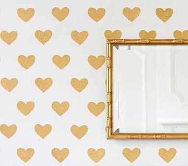Gold Heart Decals #pbkids