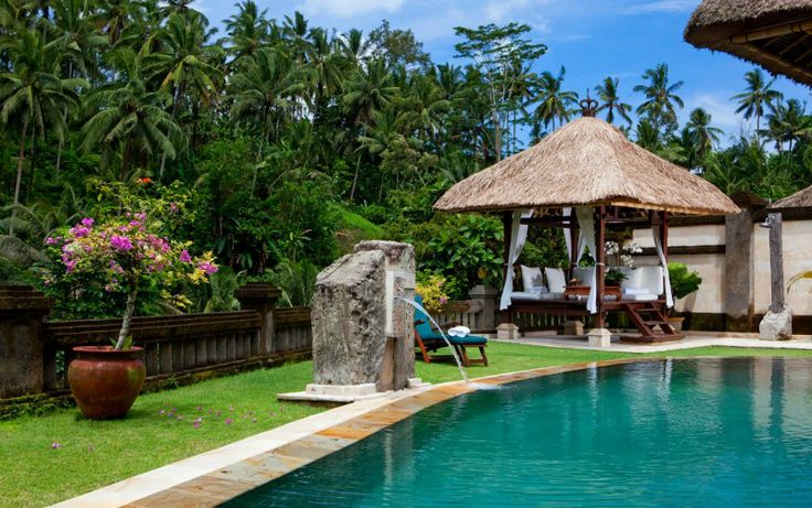 Swimming pool gazebo ideas swimming pool area for Pool design bali
