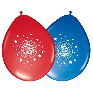 USA feest ballonnen - 8 stuks  Ballonnen in de de kleuren rood en blauw met USA feest thema.  EUR 2.45  Meer informatie