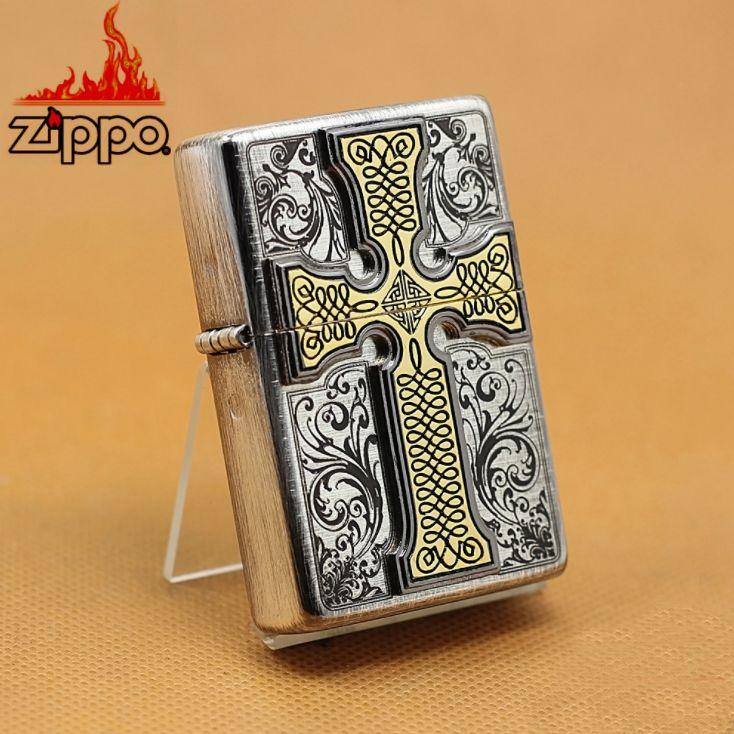 Japanese Antique Silver Chris Dos Cross Emblem Zippo Lighter Zippo Lighter Zippo Zippo Art