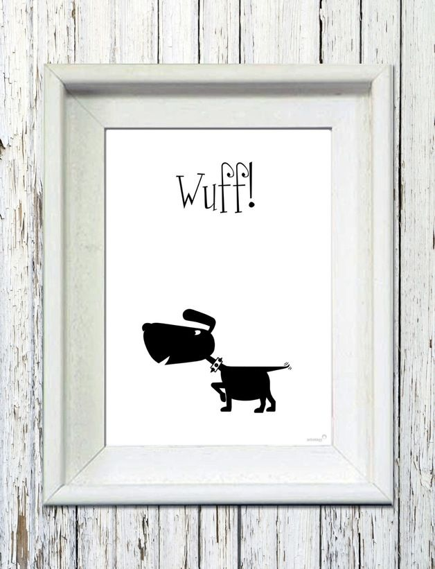 poster mit hund poster with dig by antrekken via streichholzschachtel. Black Bedroom Furniture Sets. Home Design Ideas